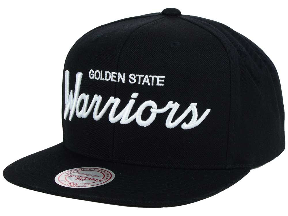 new style 99a53 72812 ... wholesale golden state warriors mitchell ness nba white script snapback  cap e3b46 f547c