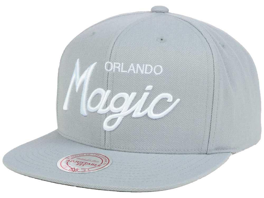 Orlando Magic Mitchell   Ness NBA White Script Snapback Cap  cf95d9d0e0a5