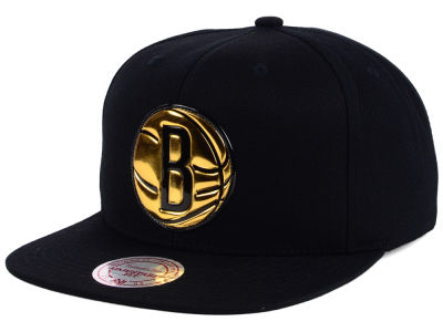 Brooklyn Nets Mitchell and Ness NBA Carat Snapback Cap