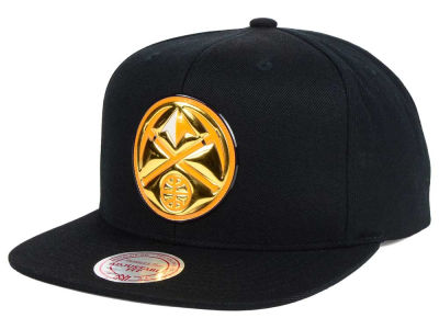 Denver Nuggets Mitchell and Ness NBA Carat Snapback Cap