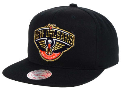 New Orleans Pelicans Mitchell and Ness NBA Carat Snapback Cap