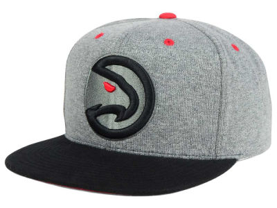 Atlanta Hawks Mitchell and Ness NBA Black Broad St Snapback Cap