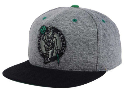 Boston Celtics Mitchell and Ness NBA Black Broad St Snapback Cap