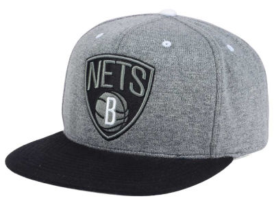 Brooklyn Nets Mitchell and Ness NBA Black Broad St Snapback Cap