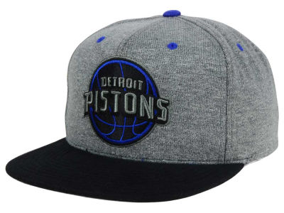 Detroit Pistons Mitchell and Ness NBA Black Broad St Snapback Cap