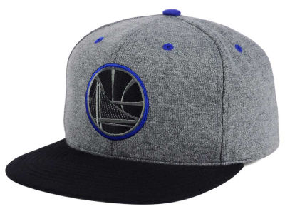 Golden State Warriors Mitchell and Ness NBA Black Broad St Snapback Cap