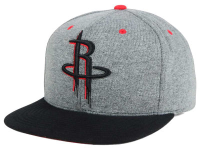 Houston Rockets Mitchell and Ness NBA Black Broad St Snapback Cap