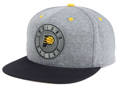 Indiana Pacers Mitchell and Ness NBA Black Broad St Snapback Cap
