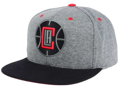 Los Angeles Clippers Mitchell and Ness NBA Black Broad St Snapback Cap