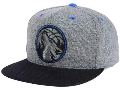 Minnesota Timberwolves Mitchell and Ness NBA Black Broad St Snapback Cap