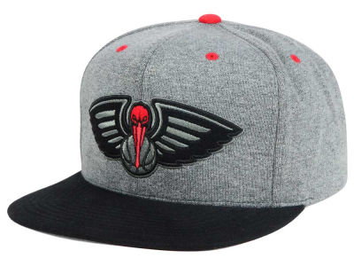 New Orleans Pelicans Mitchell and Ness NBA Black Broad St Snapback Cap