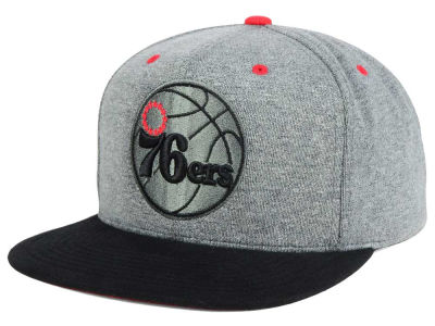 Philadelphia 76ers Mitchell and Ness NBA Black Broad St Snapback Cap