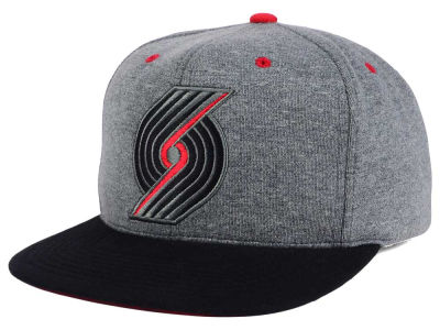 Portland Trail Blazers Mitchell and Ness NBA Black Broad St Snapback Cap