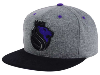 Sacramento Kings Mitchell and Ness NBA Black Broad St Snapback Cap