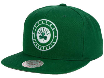 Boston Celtics Mitchell and Ness NBA Circle Patch Snapback Cap