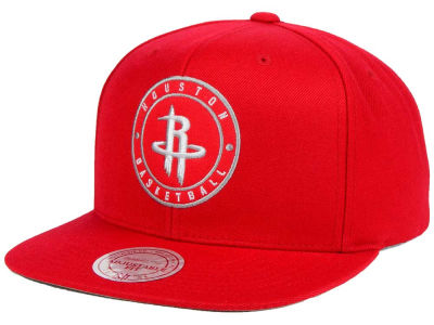 Houston Rockets Mitchell and Ness NBA Circle Patch Snapback Cap