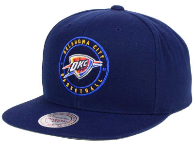 Oklahoma City Thunder Mitchell & Ness NBA Circle Patch Snapback Cap