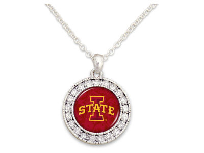 Iowa State Cyclones Rhinestone Disk Necklace