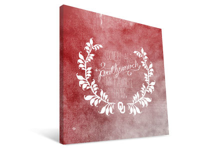 Oklahoma Sooners Favorite Thing Canvas Print