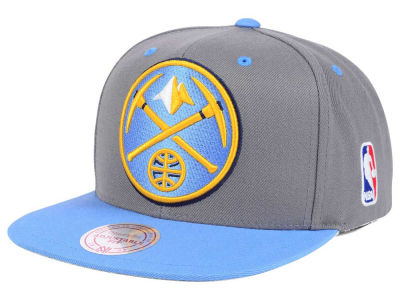 Denver Nuggets Mitchell and Ness NBA Under Over Snapback Cap