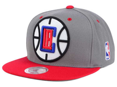 Los Angeles Clippers Mitchell and Ness NBA Under Over Snapback Cap