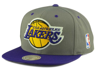 Los Angeles Lakers Mitchell and Ness NBA Under Over Snapback Cap