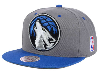 Minnesota Timberwolves Mitchell and Ness NBA Under Over Snapback Cap