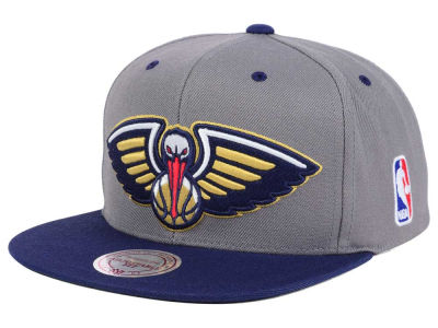 New Orleans Pelicans Mitchell and Ness NBA Under Over Snapback Cap