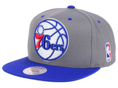 Philadelphia 76ers Mitchell and Ness NBA Under Over Snapback Cap
