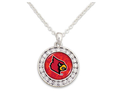 Louisville Cardinals Rhinestone Disk Necklace