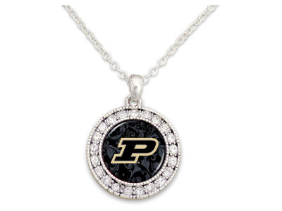 Purdue Boilermakers Rhinestone Disk Necklace