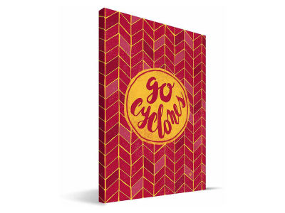 Iowa State Cyclones Geometric Canvas Print