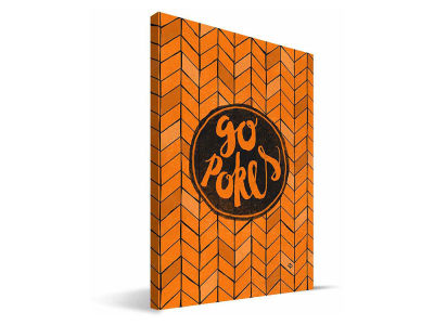 Oklahoma State Cowboys Geometric Canvas Print