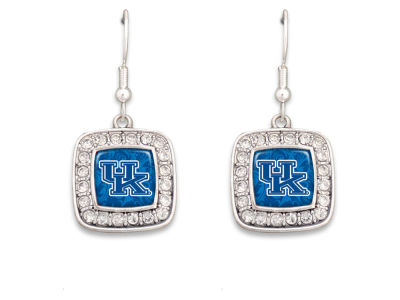 Kentucky Wildcats Rhinestone Square Earring