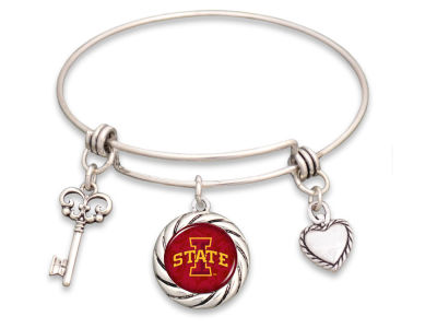 Iowa State Cyclones Braided Disk Wire Bangle