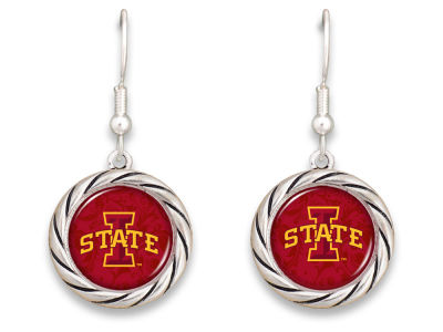 Iowa State Cyclones Braided Disk Earrings
