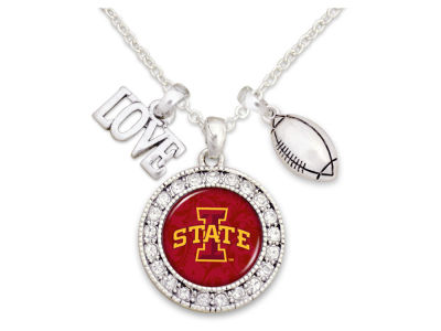 Iowa State Cyclones Football Love Necklace