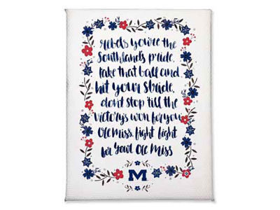 Ole Miss Rebels Hand Painted Song Magnet
