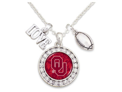 Oklahoma Sooners Football Love Necklace