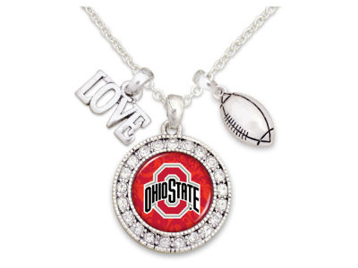 Ohio State Buckeyes Football Love Necklace