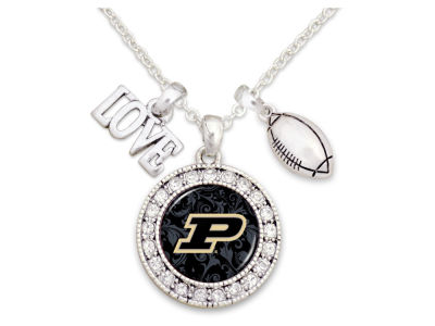 Purdue Boilermakers Football Love Necklace