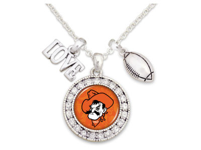 Oklahoma State Cowboys Football Love Necklace