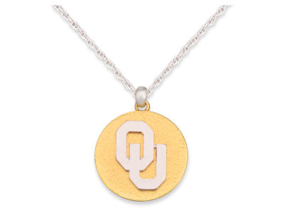 Oklahoma Sooners Matte Medallion Necklace