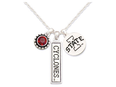 Iowa State Cyclones Tri Charm Necklace