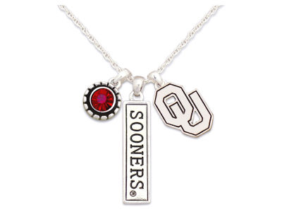 Oklahoma Sooners Tri Charm Necklace