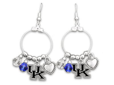 Kentucky Wildcats Haute Wire Bead Earrings
