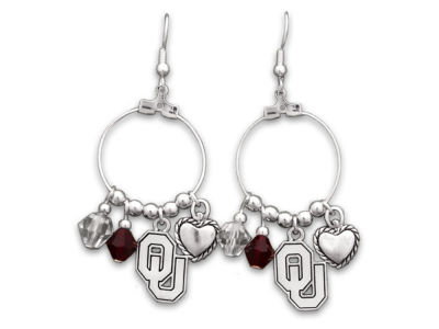 Oklahoma Sooners Haute Wire Bead Earrings
