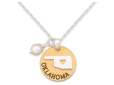 Oklahoma Sooners No Place Like Home Necklace
