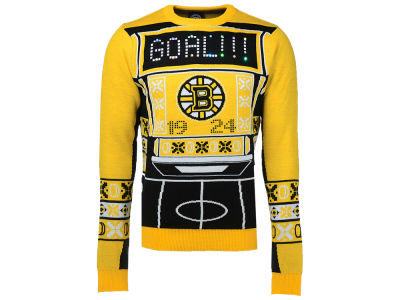 Boston Bruins Klew NHL Men's Light Up Ugly Sweater