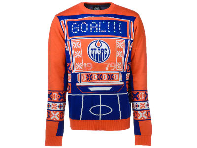 Edmonton Oilers NHL Men's Light Up Ugly Sweater
